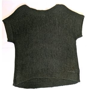 Pointelle Boxy Fit SS Sweater
